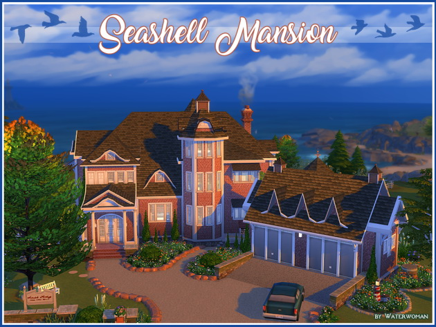 Seashell Mansion by Waterwoman at Akisima image 1722 Sims 4 Updates