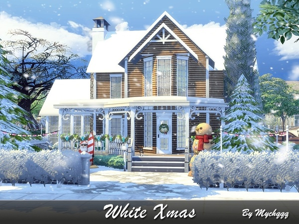 Charming Xmas house built by MychQQQ at TSR image 1723 Sims 4 Updates
