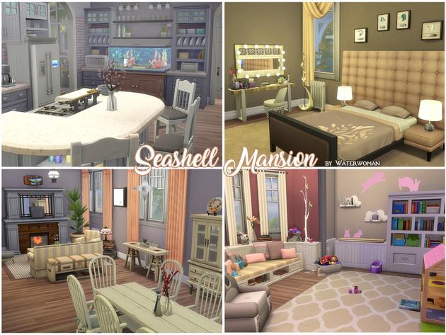 Seashell Mansion by Waterwoman at Akisima image 1732 Sims 4 Updates