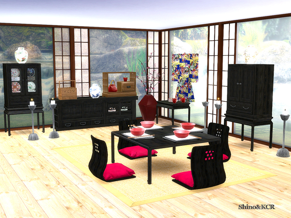 Japan Dining by ShinoKCR at TSR image 1739 Sims 4 Updates