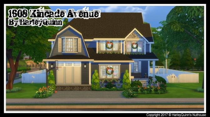 Sims 4 1608 Kincade Ave house at Harley Quinn's Nuthouse