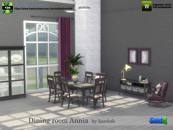 Sims 4 Dining room Annia by kardofe at TSR