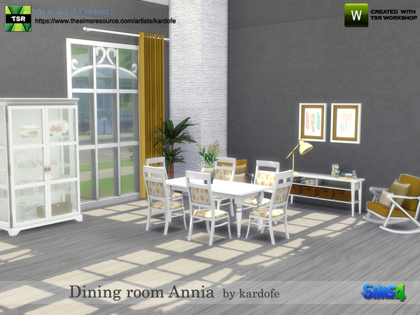 Dining room Annia by kardofe at TSR image 18112 Sims 4 Updates