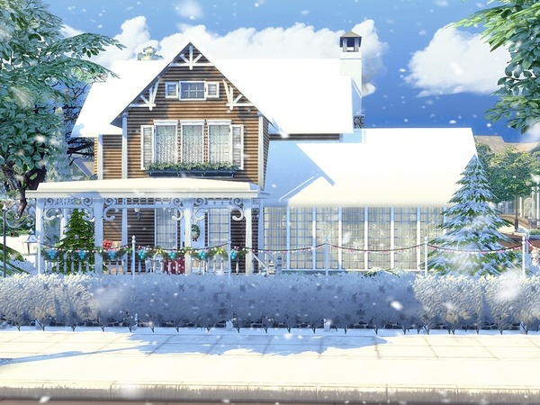 Charming Xmas house built by MychQQQ at TSR image 1818 Sims 4 Updates