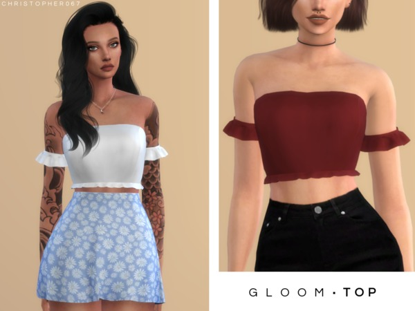 Gloom Top by Christopher067 at TSR image 1837 Sims 4 Updates