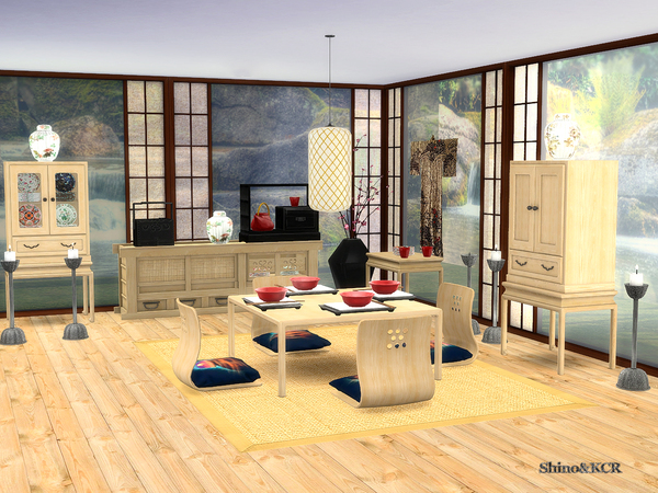 Japan Dining by ShinoKCR at TSR image 1839 Sims 4 Updates