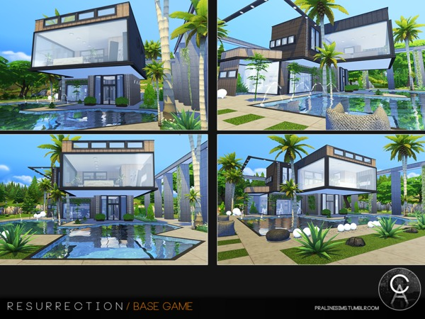 Sims 4 Resurrection house by Pralinesims at TSR