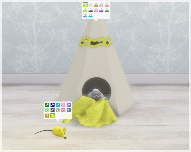 Sims 4 Pet House Wigwam & Pet Toy Mouse at Helen Sims