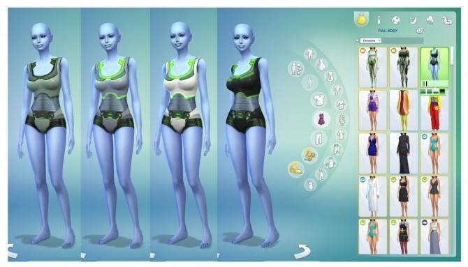 Female Alien Swimwear Set By Menaceman44 At Mod The Sims