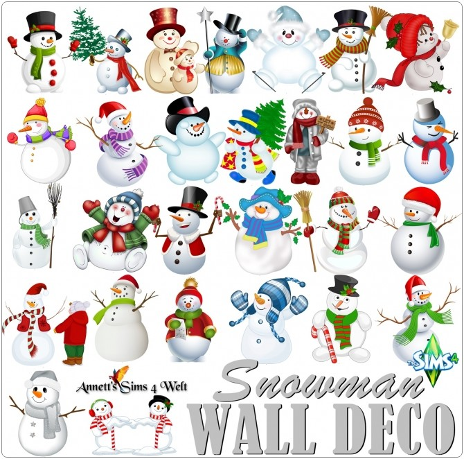 Wall Deco Snowman at Annett's Sims 4 Welt image 1894 670x662 Sims 4 Updates