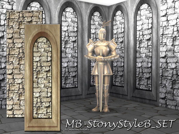 Sims 4 MB Stony Style B SET by matomibotaki at TSR