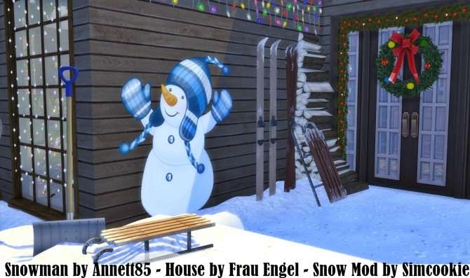 Wall Deco Snowman at Annett's Sims 4 Welt image 1904 670x397 Sims 4 Updates