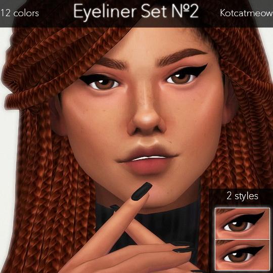 Sims 4 EYELINER SET 2 at KotCatMeow