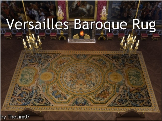 Versailles Baroque Rug by TheJim07 at Mod The Sims image 19112 670x503 Sims 4 Updates