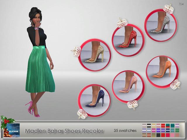 Sims 4 Madlen Bahar Shoes Recolor at Elfdor Sims