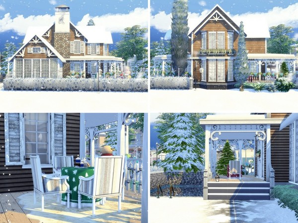 Charming Xmas house built by MychQQQ at TSR image 1924 Sims 4 Updates