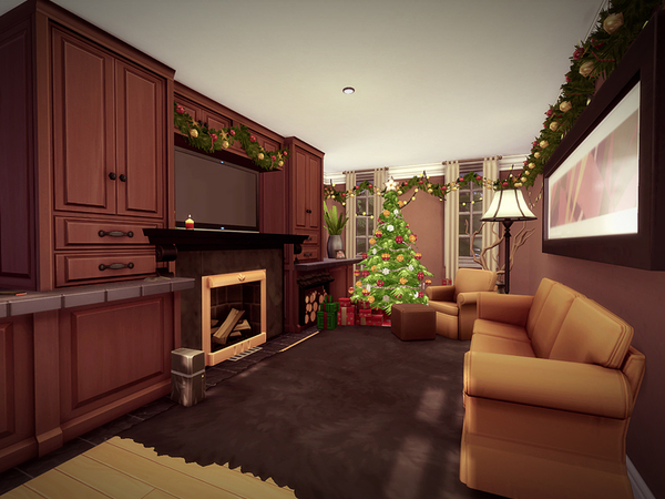 Sims 4 Holidcot house by melcastro91 at TSR