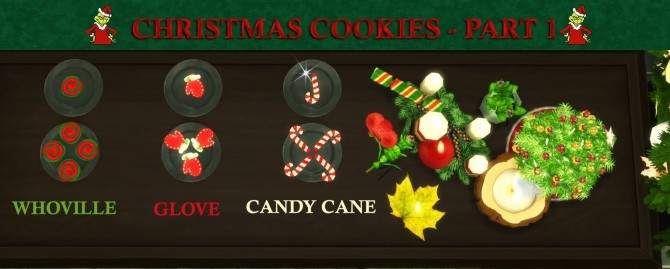 Custom Christmas Cookies Part 2 by icemunmun at Mod The Sims image 1938 670x269 Sims 4 Updates