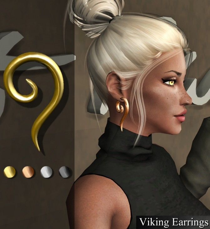 Sims 4 Viking earrings at Deep Space