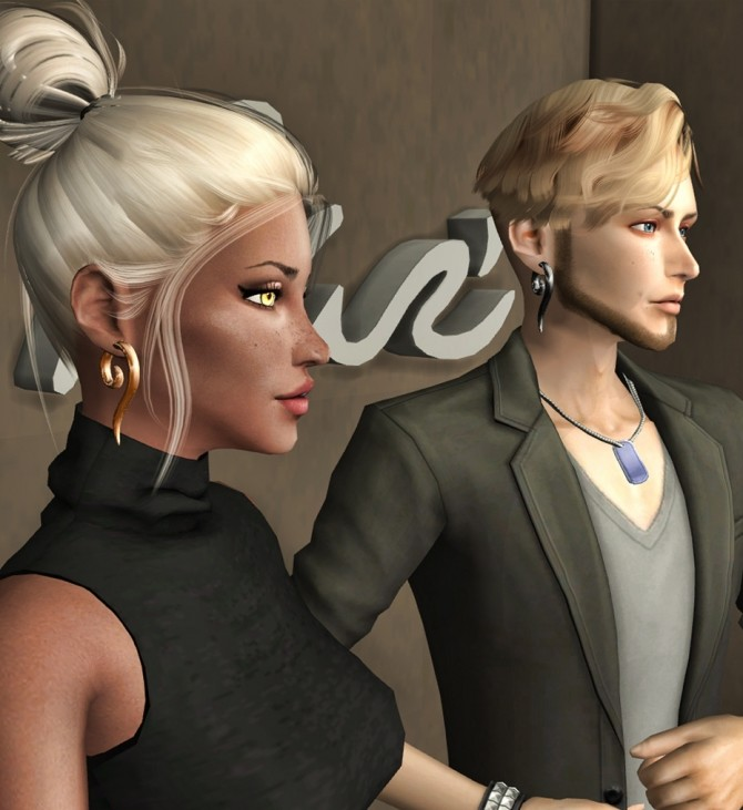 Viking earrings at Deep Space image 1955 670x731 Sims 4 Updates