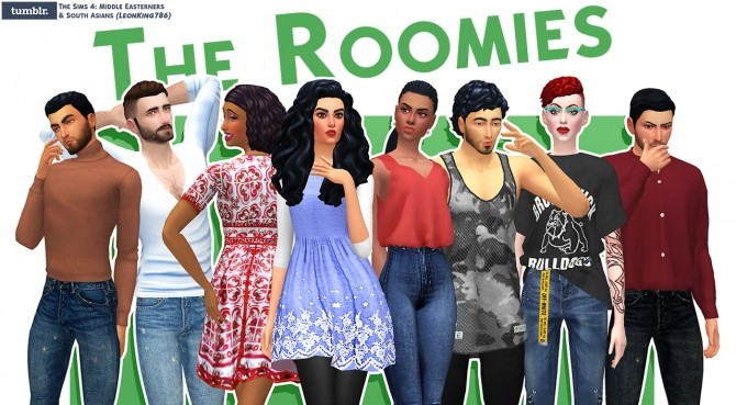 The Roomies at The Sims 4 Middle Easterners & South Asians image 1963 670x369 Sims 4 Updates