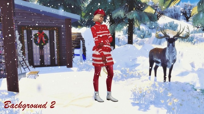 Cas Backgrounds Christmas Eve Outdoor At Annett S Sims 4