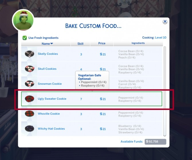 Custom Christmas Cookies Part 3 by icemunmun at Mod The Sims image 1986 670x557 Sims 4 Updates