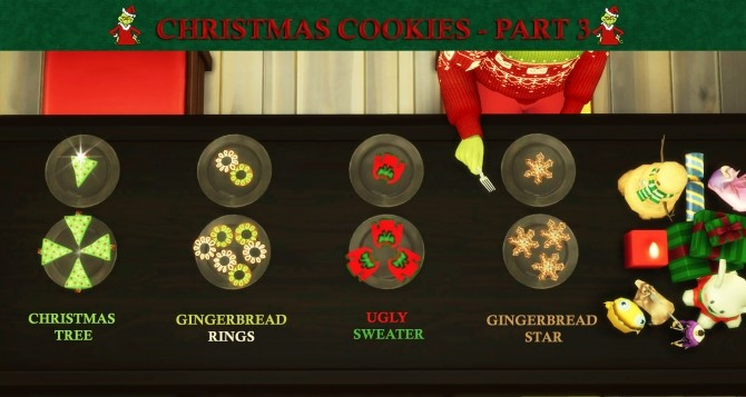 Custom Christmas Cookies Part 3 by icemunmun at Mod The Sims image 1995 670x357 Sims 4 Updates