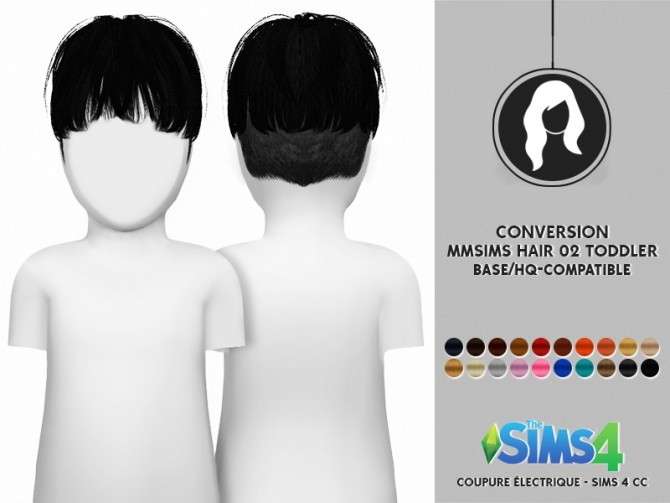 Sims 4 MMSIMS MF HAIR 02 FOR TODDLER by Thiago Mitchell at REDHEADSIMS