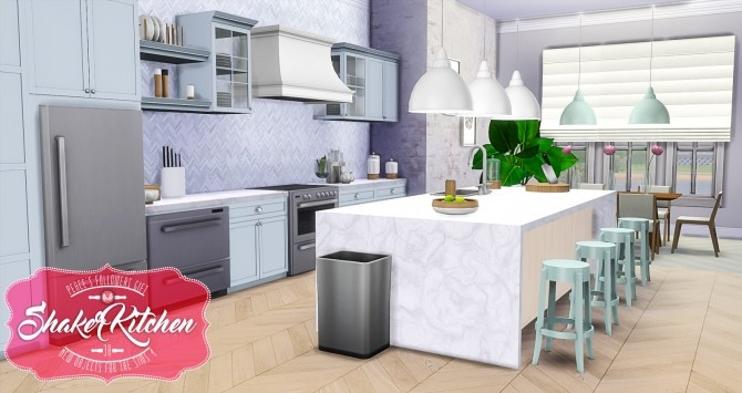 Shaker Kitchen by Peacemaker ic at Simsational Designs image 2012 670x355 Sims 4 Updates