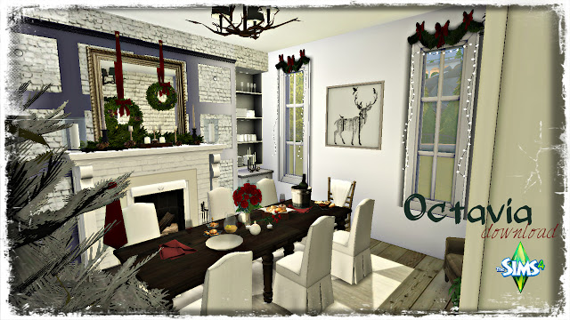 Octavia Holiday decorated Dining Room at Pandasht Productions image 2013 Sims 4 Updates