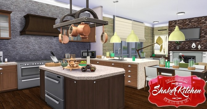 Shaker Kitchen by Peacemaker ic at Simsational Designs image 2021 670x355 Sims 4 Updates