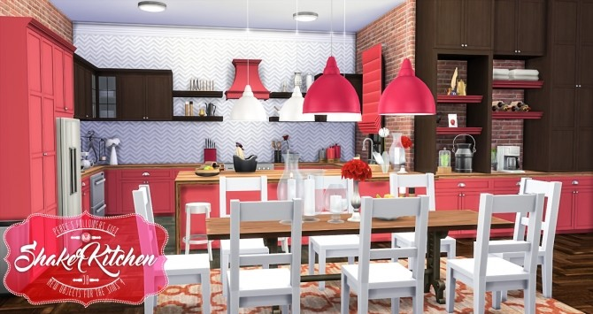 Shaker Kitchen by Peacemaker ic at Simsational Designs image 2031 670x355 Sims 4 Updates