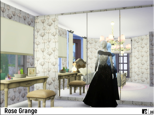 Sims 4 Rose Grange house by Pinkfizzzzz at TSR