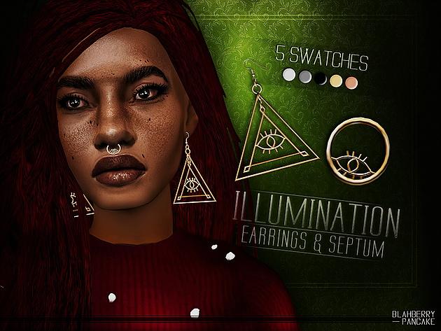 Illumination Earrings & Septum at Blahberry Pancake image 2045 Sims 4 Updates
