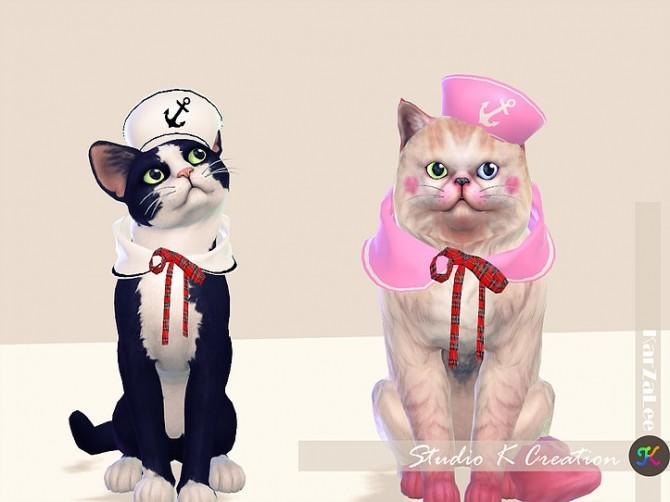 Sims 4 Sailor set for cat at Studio K Creation