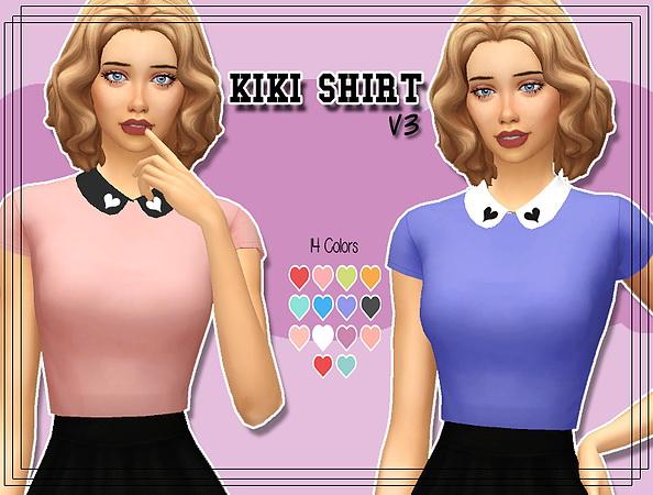 Kiki Shirt V.3 at Kass image 2074 Sims 4 Updates