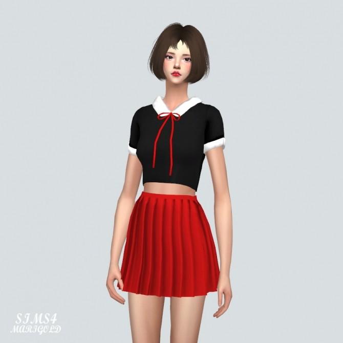 Sims 4 JJ Crop Top With Ribbon at Marigold