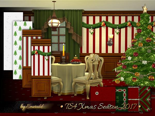 Xmas Season 2017 walls & floors by emerald at TSR image 21 Sims 4 Updates