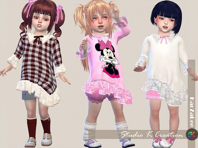 Sims 4 Type F top for toddler at Studio K Creation