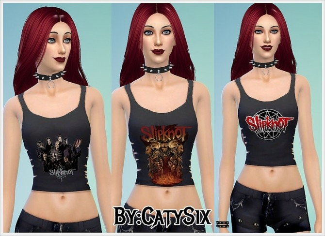 Sims 4 Slipknot Tank Tops at CatySix