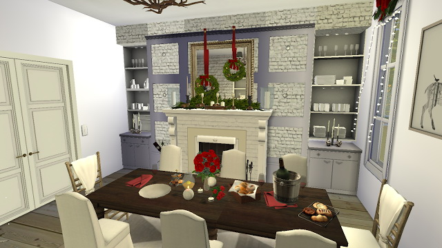 Octavia Holiday decorated Dining Room at Pandasht Productions image 2113 Sims 4 Updates