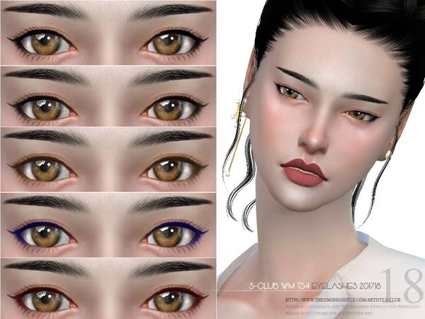 Sims 4 Eyelashes 201718 by S Club WM at TSR