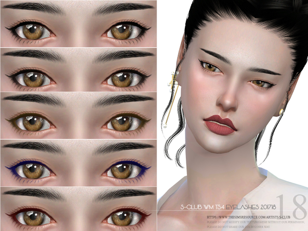 Eyelashes 201718 by S Club WM at TSR image 2127 Sims 4 Updates