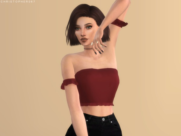 Sims 4 Gloom Top by Christopher067 at TSR