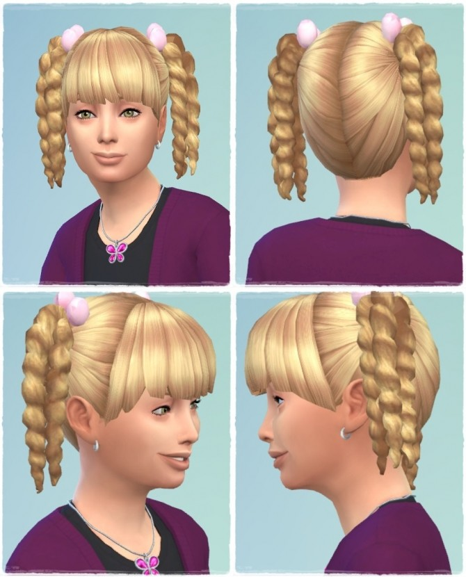 Sims 4 Girly Twist Tail Hair at Birksches Sims Blog