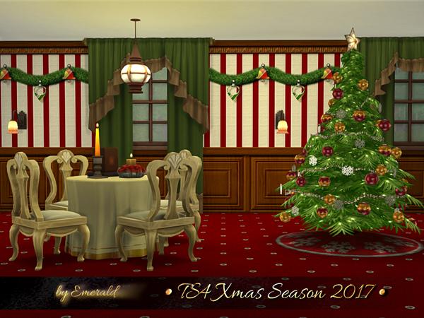 Xmas Season 2017 walls & floors by emerald at TSR image 22 Sims 4 Updates