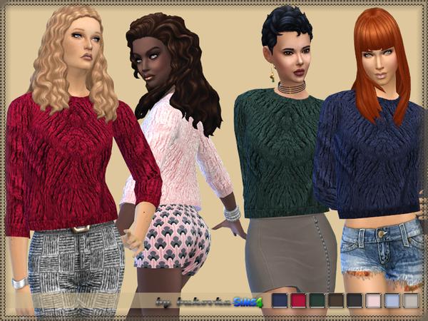 Sims 4 Corrugated Sweater by bukovka at TSR