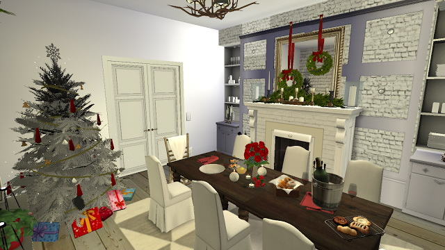 Octavia Holiday decorated Dining Room at Pandasht Productions image 2212 Sims 4 Updates
