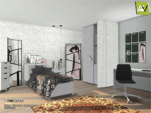 Pina Young Bedroom by ArtVitalex at TSR image 2236 Sims 4 Updates